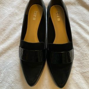 Bar III Black Loafer 8.5M with Patten Trim